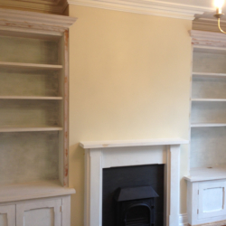 Bookcase with storage for alcove 1