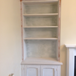 Bookcase with storage for alcove