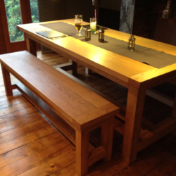 Oak Table with hidden Benches