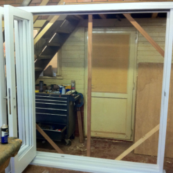 Primed Utile Bi-Folding Doors Open