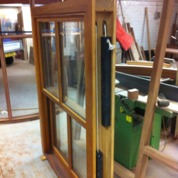 Side View Iroko Sliding Sash