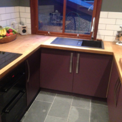 modern Kitchen with Oak Worktop