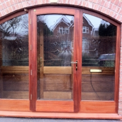 Glass arched exteral door