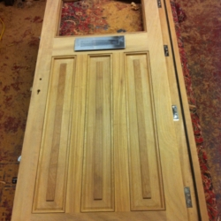 Iroko Front Door with central Window