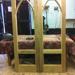 gothic iroko french doors